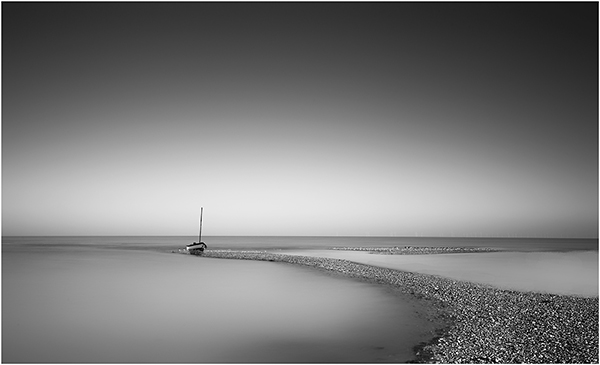 Lone Beached Boat by Steve Finch